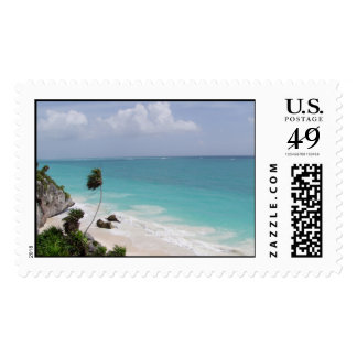 cool blue water postage