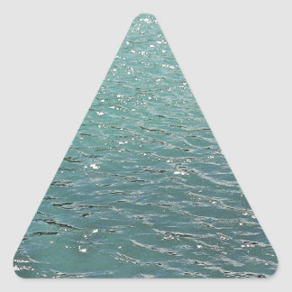 Cool blue water triangle sticker