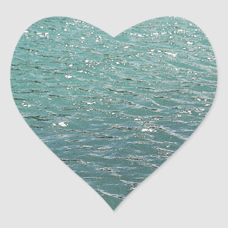 Cool blue water heart sticker