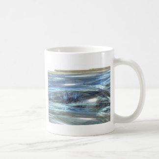 Cool Blue water waves light design abstract digita Coffee Mug