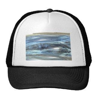 Cool Blue water waves light design abstract digita Trucker Hat