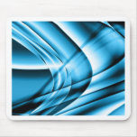 Cool Blue Waves Mouse Pad