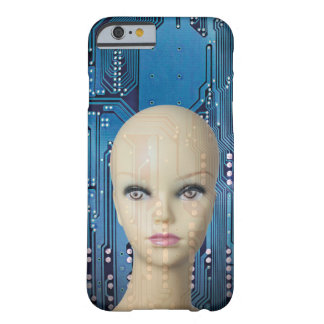 Cool Blue Woman Artificial Intelligence Photo Barely There iPhone 6 Case