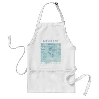 Cool Blue World - collection Adult Apron