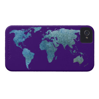 Cool Blue World iPhone 4 Case-Mate Case