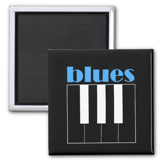 Cool blues piano magnet