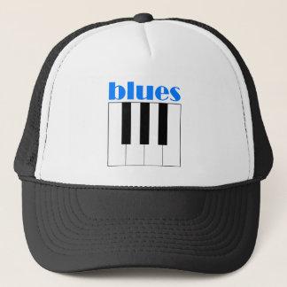 Cool blues piano trucker hat