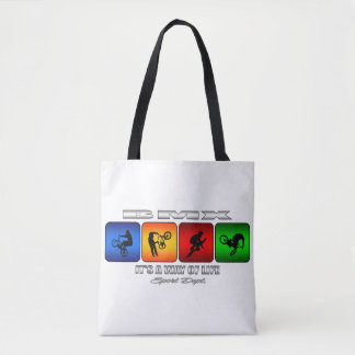 Cool BMX It Is A Way Of Life Tote Bag