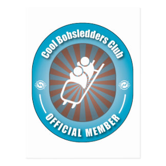 Cool Bobsledders Club Postcard