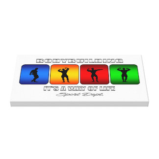 Cool Bodybuilding It Is A Way Of Life Canvas Print