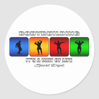 Cool Bodybuilding It Is A Way Of Life Classic Round Sticker