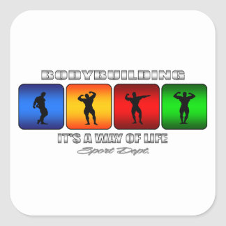 Cool Bodybuilding It Is A Way Of Life Square Sticker
