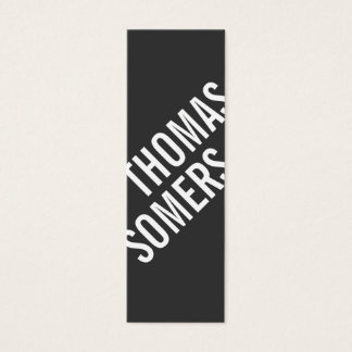Cool BOLD Black and White Modern Hip Mini Business Card