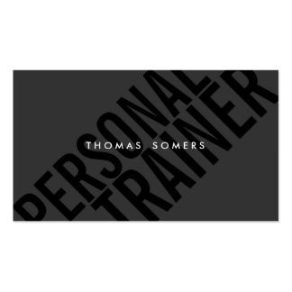 Cool Bold BLack Typography Personal Trainer Business Card