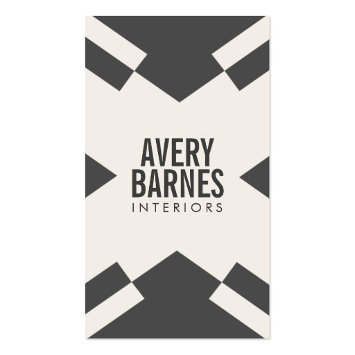 Cool Bold Geometric Modern, Black and White Design Business Card Template