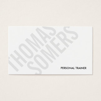 Cool BOLD Gray and White Typography Modern 2 Business Card