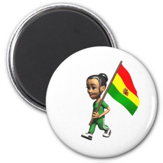 Cool Bolivia 2 Inch Round Magnet