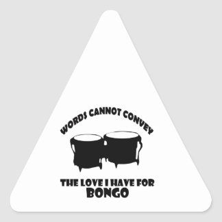 cool bongo designs triangle sticker
