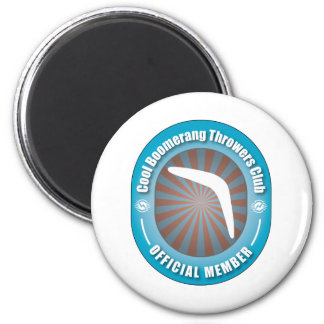 Cool Boomerang Throwers Club 2 Inch Round Magnet
