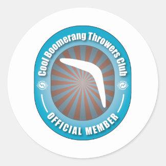 Cool Boomerang Throwers Club Classic Round Sticker