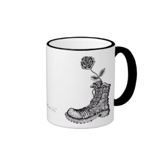 Cool boot with flower graphic art mug design
