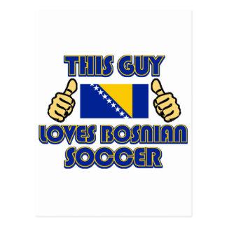 cool Bosnian soccer fan DESIGNS Postcard