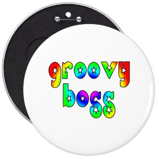 Cool Bosses Office Christmas Parties Groovy Boss Pinback Buttons