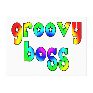 Cool Bosses Office Christmas Parties : Groovy Boss Stretched Canvas Prints