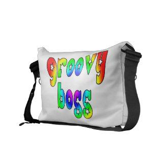 Cool Bosses Office Christmas Parties Groovy Boss Messenger Bag