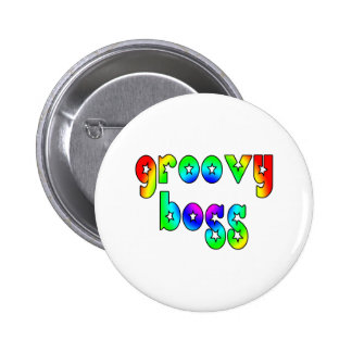 Cool Bosses Office Christmas Parties : Groovy Boss Pinback Button