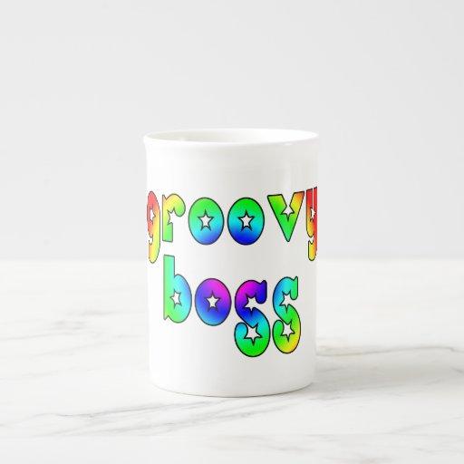 Cool Bosses Office Christmas Parties : Groovy Boss Porcelain Mug