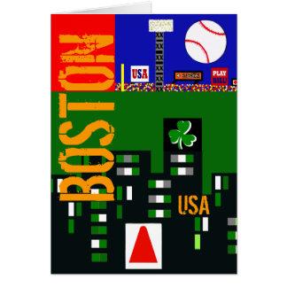 Cool Boston Sports Art  Designer Greeting Cards