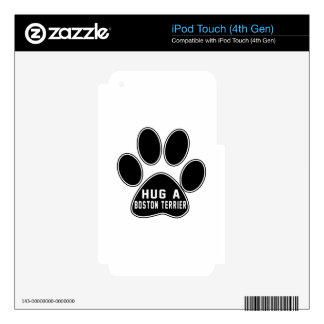 Cool Boston Terrier Designs Decal For iPod Touch 4G