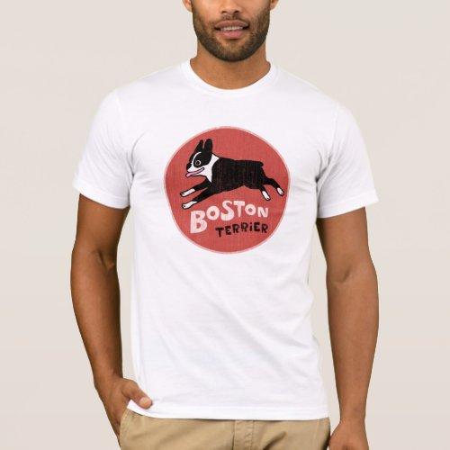 Cool Boston Terrier Vintage Style Cute Pet Dog T_Shirt