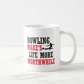 cool bowling design coffee mug