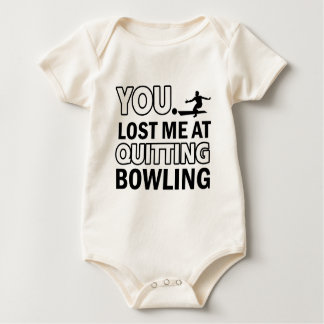 Cool bowling designs baby bodysuit