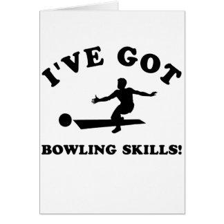 cool bowling designs card