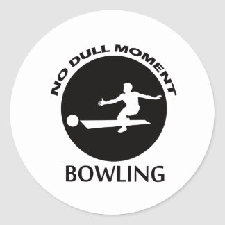 Cool BOWLING designs Classic Round Sticker