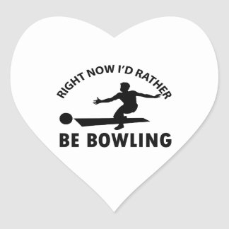 cool bowling designs heart sticker