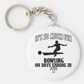 cool Bowling DESIGNS Keychain
