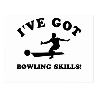 cool bowling designs postcard