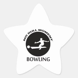 Cool bowling designs star sticker