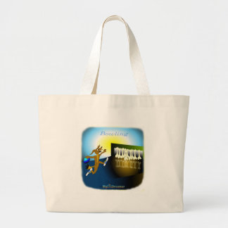 Cool Bowling gifts for kids Canvas Bags