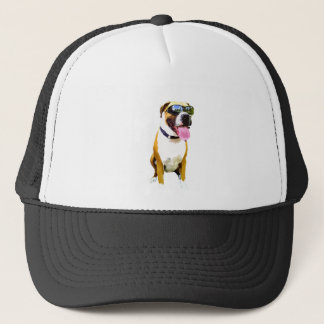 Cool Boxer Dog Trucker Hat