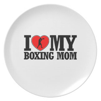 cool Boxing  mom designs Plate