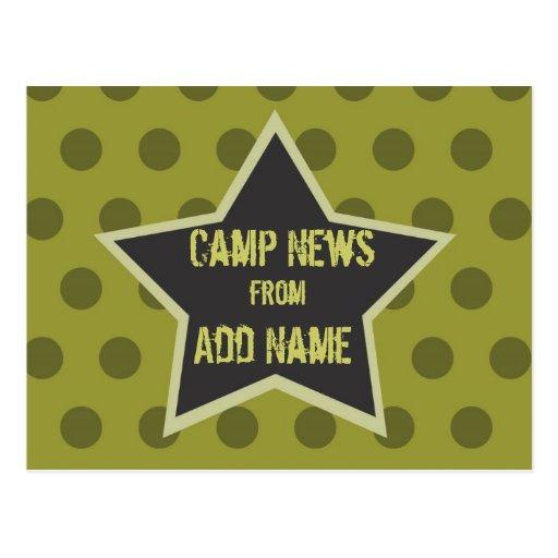 Cool Boy Customizable Camp Postcard