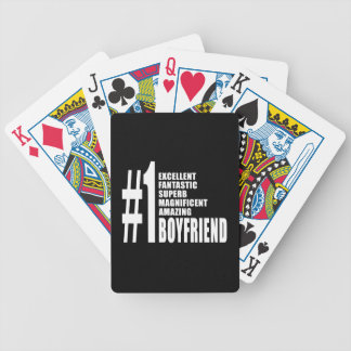 Cool Boyfriends : Number One Boyfriend Bicycle Playing Cards