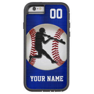 Cool Boys Blue PERSONALIZED Baseball Phone Cases