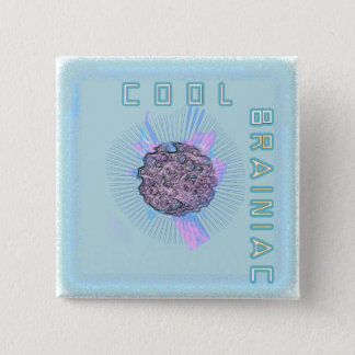 Cool brainiac pinback button