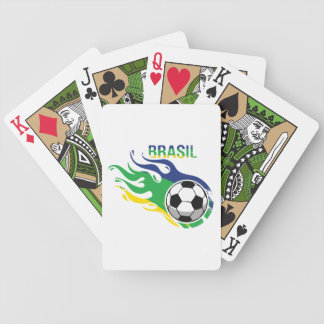 Cool Brasil Futebol Bicycle Playing Cards